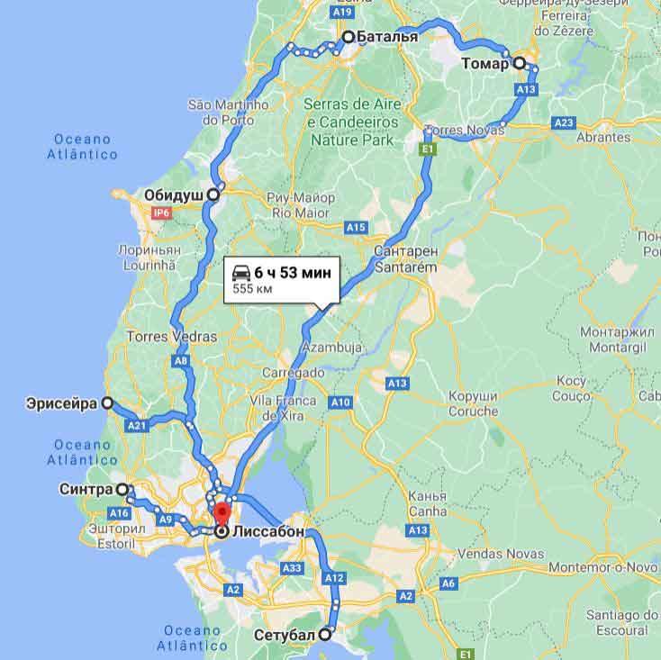 карта тура Великолепный Лиссабон - ежедневно!