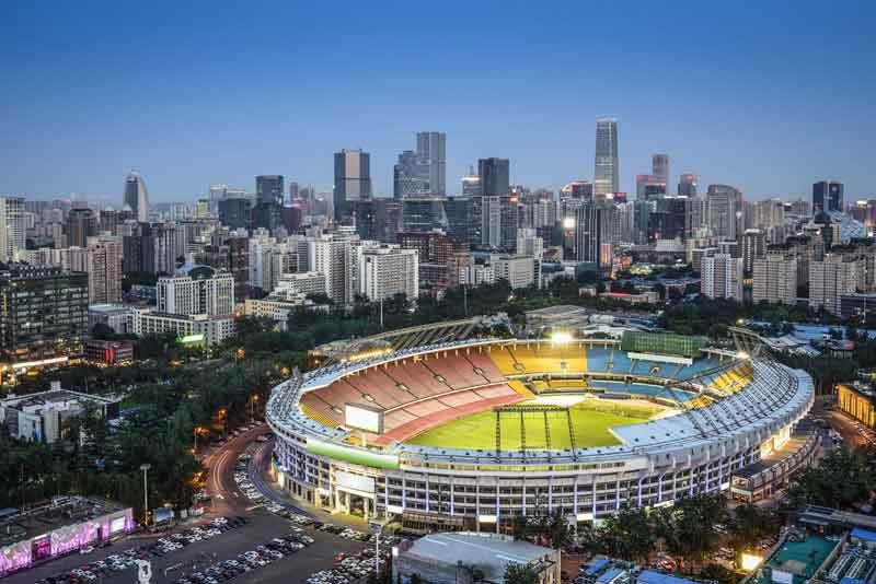 Небоскребы и стадион
