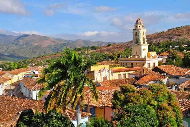 Вид на колониальный город