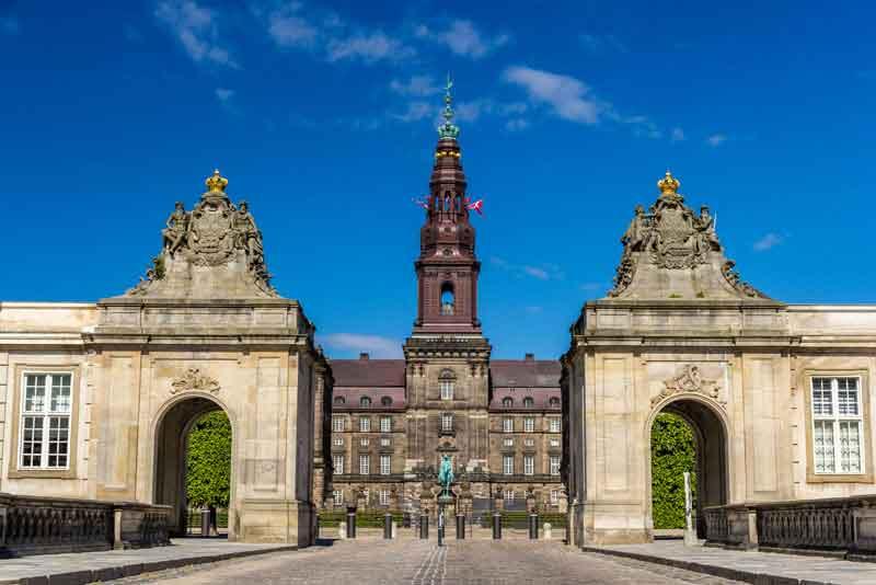 Вход во дворц Кристиансборг
