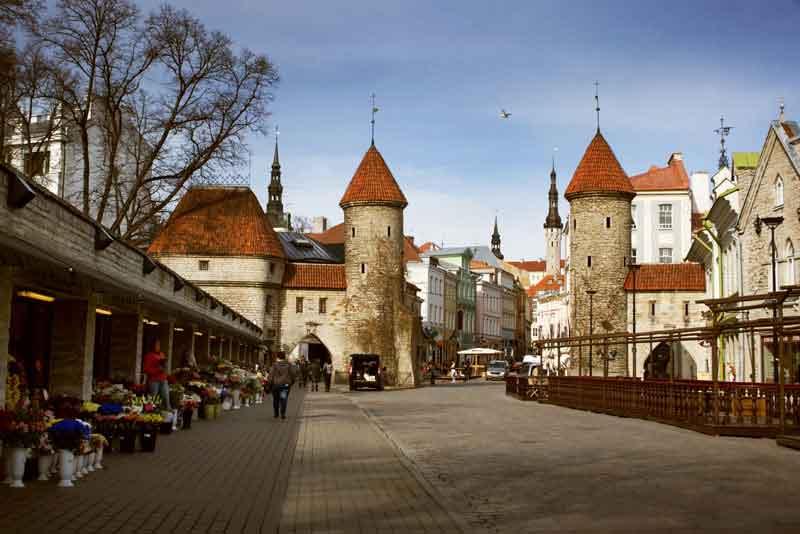 Вируские ворот в старом городе