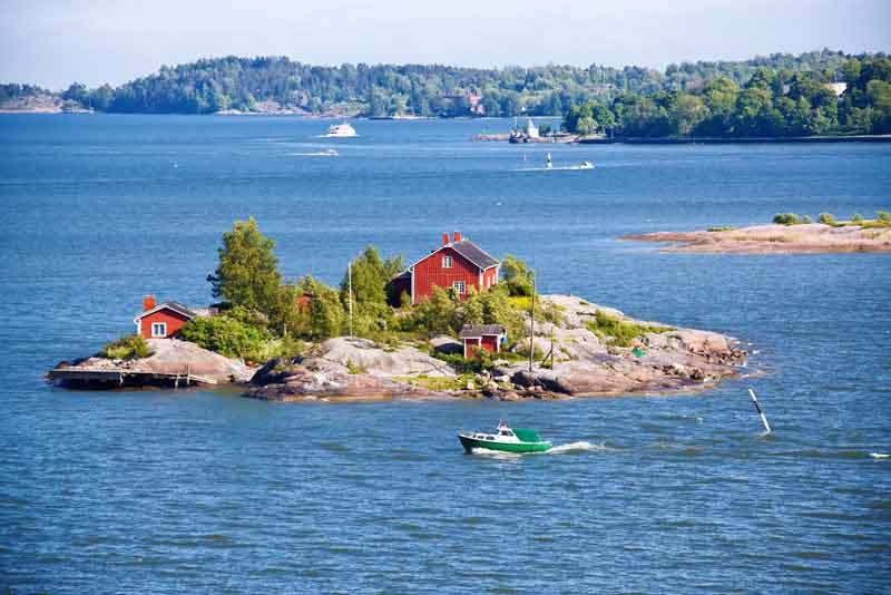 Дом на острове Балтийского моря