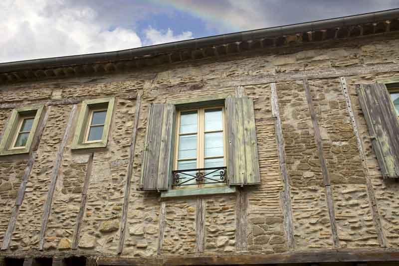 Древние дома внутри укреплений