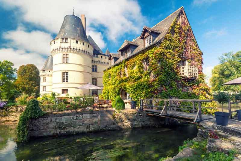 Замко Chateau De l'Islette эпохи Возрождения находится в долине Луары