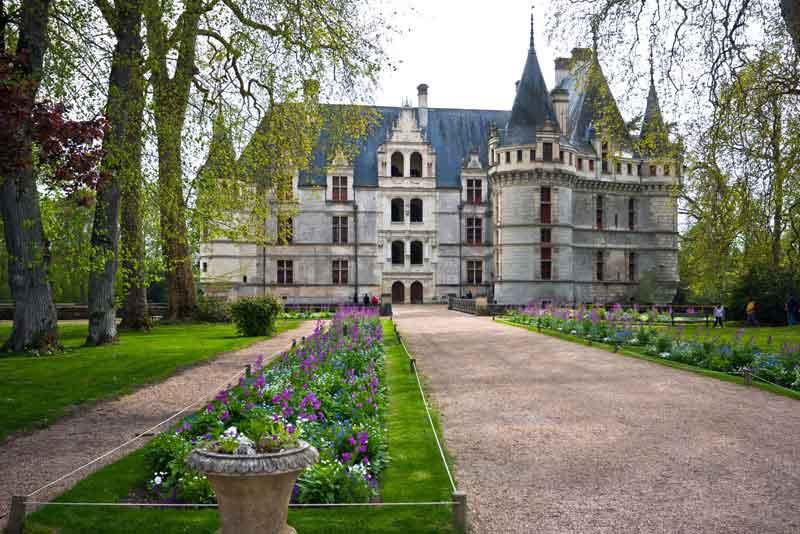 Замок Azay-le-Rideau в долины Луары