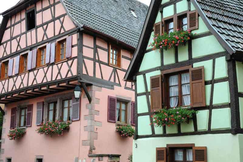 Старые эльзаские дома
