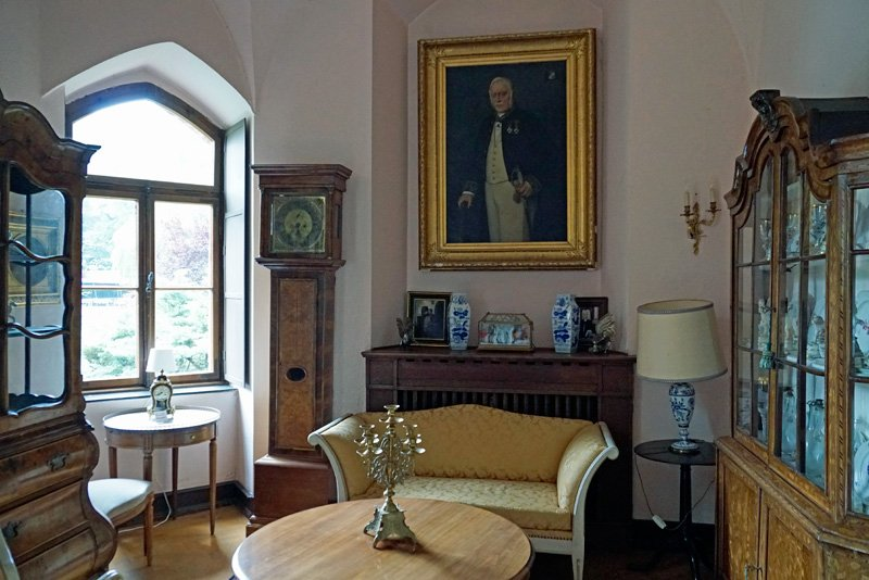 Интерьер замка Зацвей