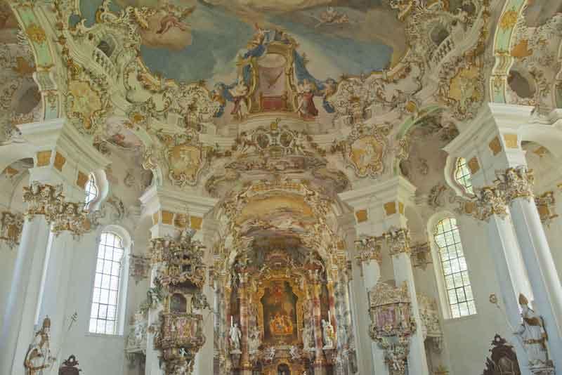 Мировое наследство Вискирхе - церковь на лугу