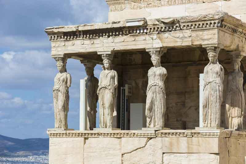 Крыльцо Кариатиды из храма Эрехтейон
