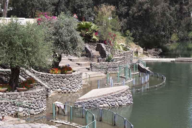 Место крещения в реке Иордан