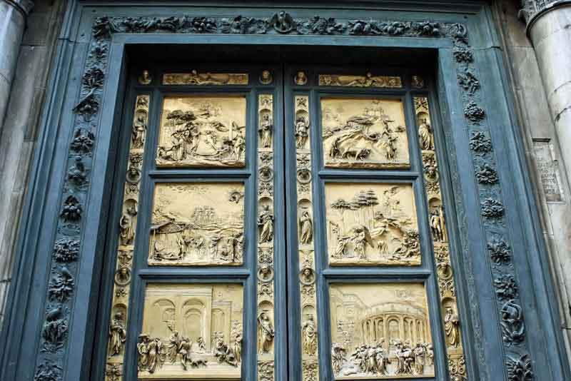 Фрагмент золотой двери Баптистерия Св.Джона