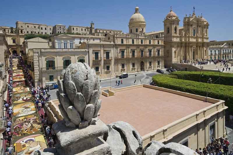 Вид города в стиле барокко, занесенного в список всемирного наследия ЮНЕСКО