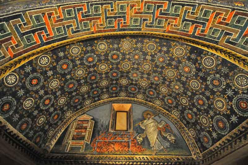 Древнейшая мозаика в Мавзолее императрицы Галлы