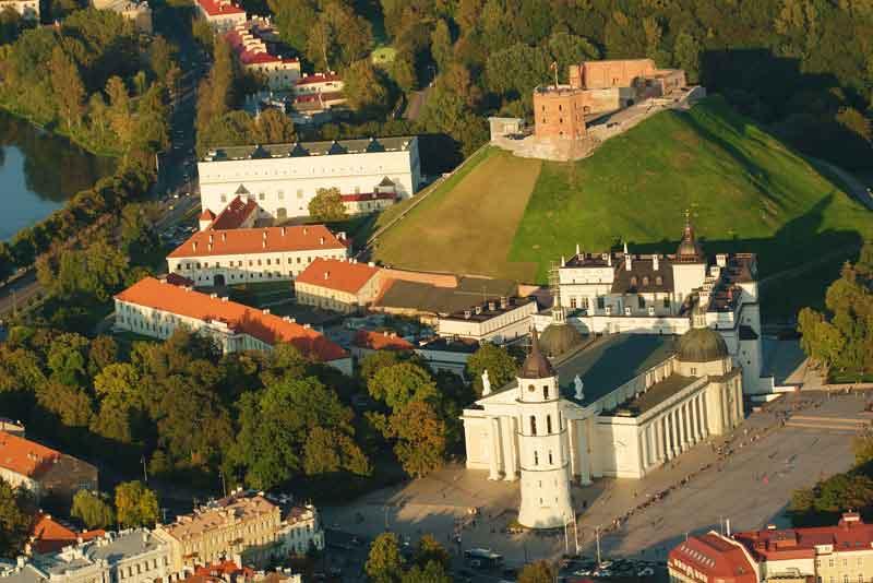 Готический Верхний замок. Кафедральный собор и Дворец Великого Княжества Литовского