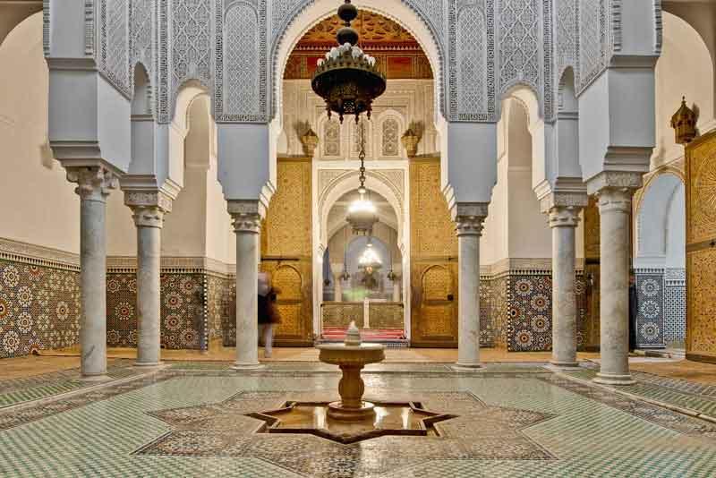 Интерьер мавзалея султана Мулай Исмаила - второго правителя Марокко династии Алауитов