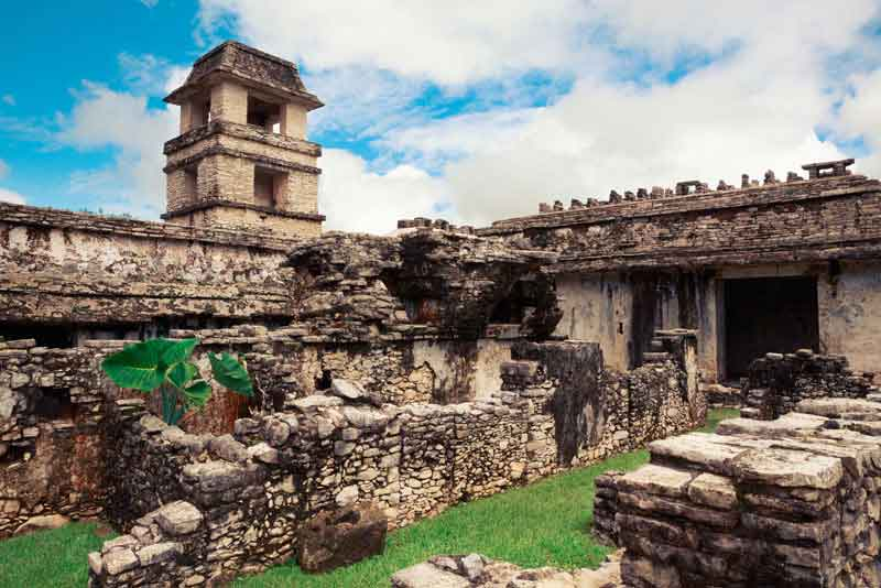 Руины города майя в штате Чьяпас