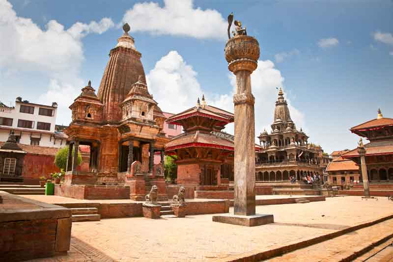 Храм Narsingha на площади Дурбар