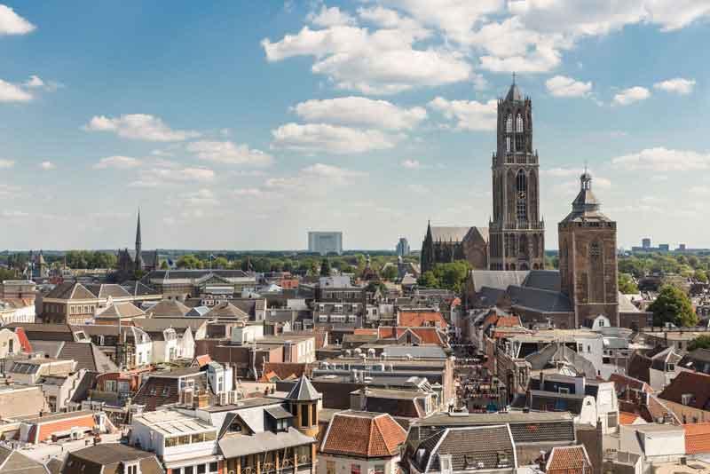 Городской пейзаж средневекового города