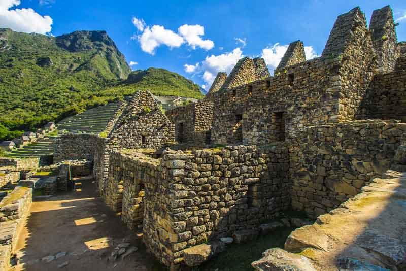 Останки цивилизации инков в горах