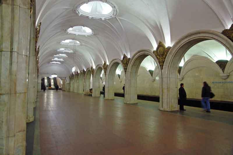 Интерьер станции метро Павелецкая