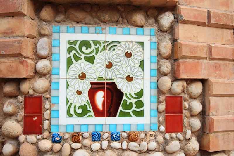 Орнаментированные плитки святилища Санта-Марии-Магдалены