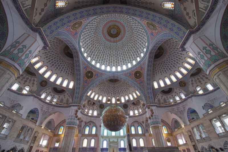 Интерьер мечети Кокатепе