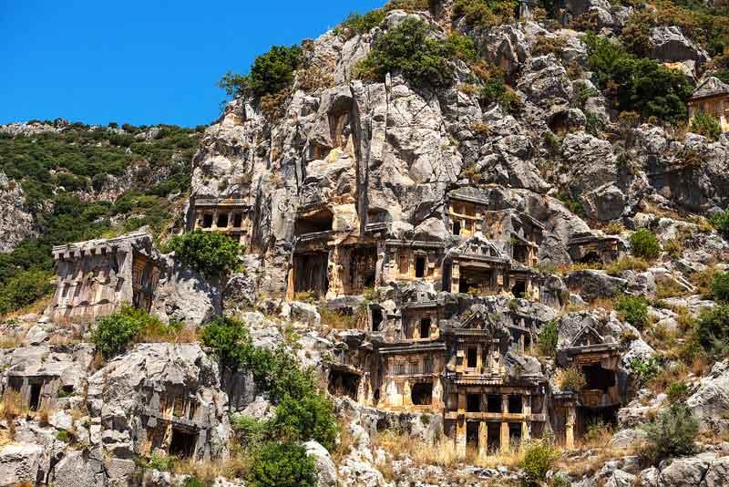 Руины древних Ликийских гробниц