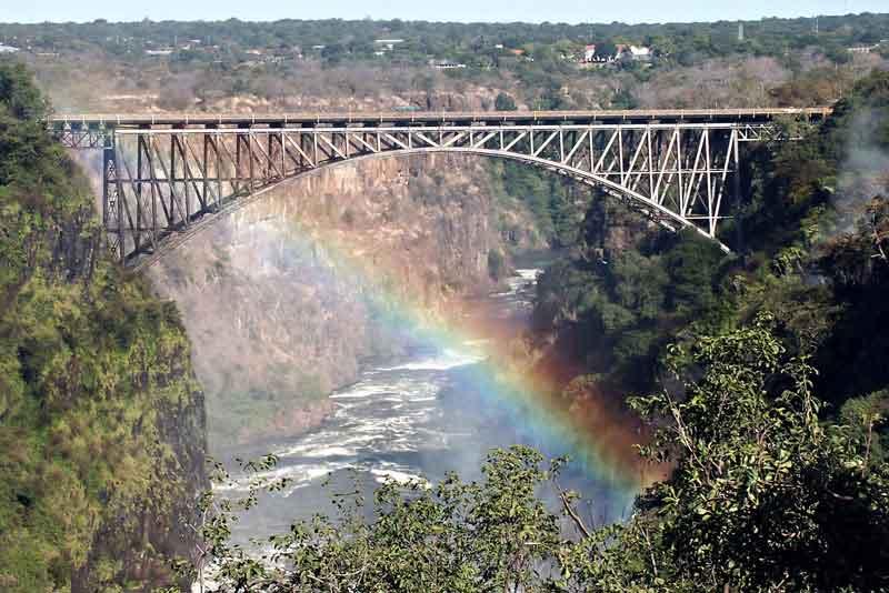 Водопад Виктория мост между Замбией и Зимбабве